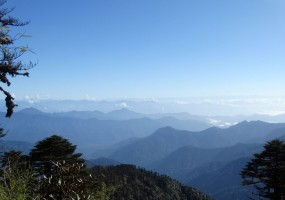 Looking east to the western most mountains of Yunnan Province from our ridge.