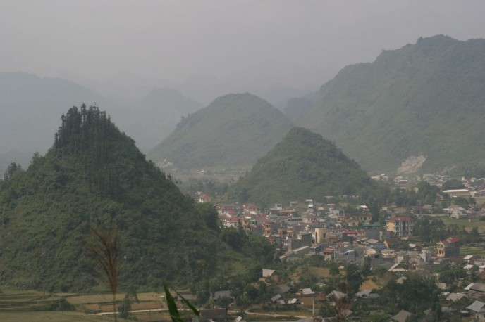 The village of Ban Quan, Vietnam, and its curious karst formations.